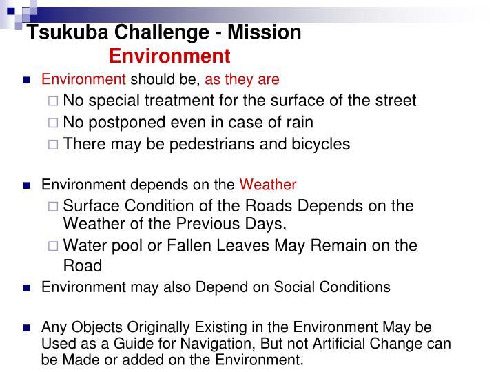 Tsukuba Challenge - Mission