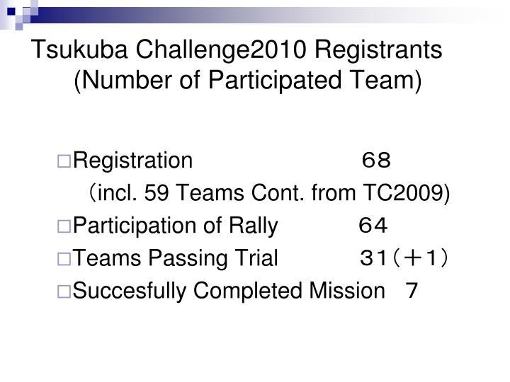 Tsukuba Challenge2010 Registrants