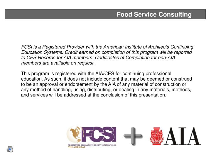 Food Service Consulting