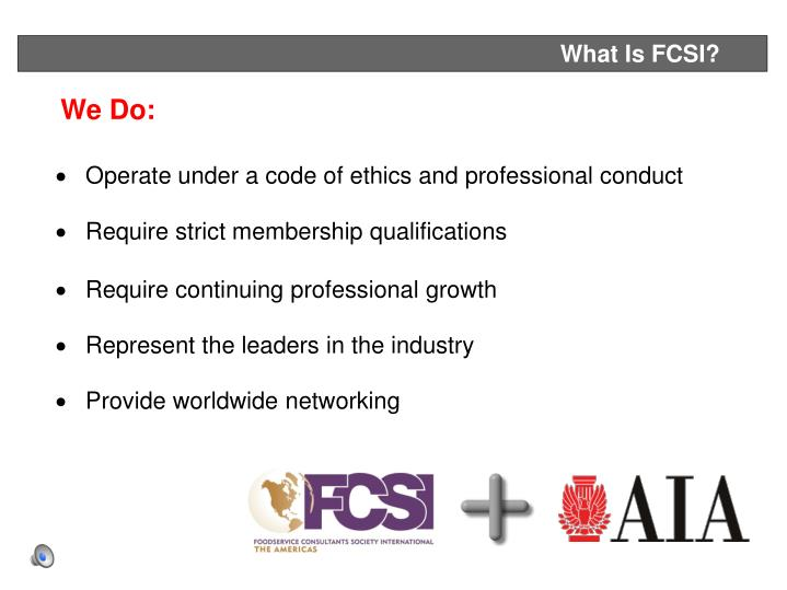 What Is FCSI?