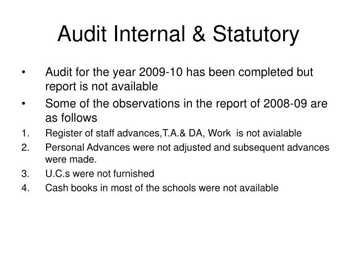 Audit Internal & Statutory