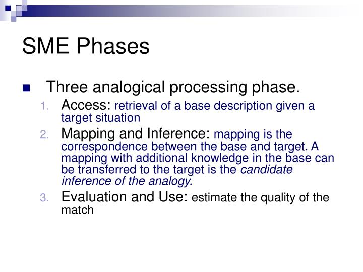 SME Phases