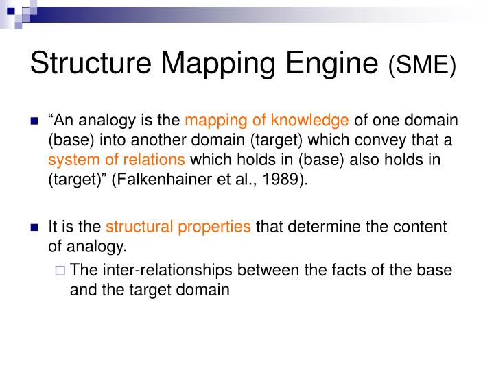 Structure Mapping Engine