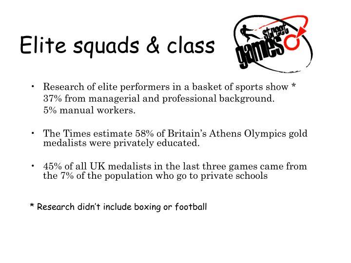 Elite squads & class