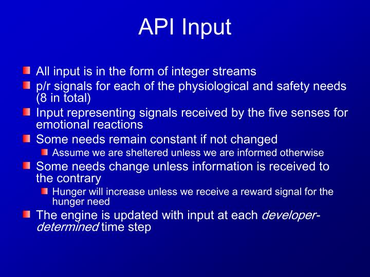 All input is in the form of integer streams