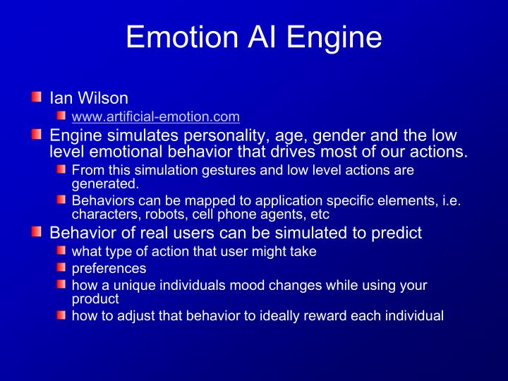 Emotion ai engine
