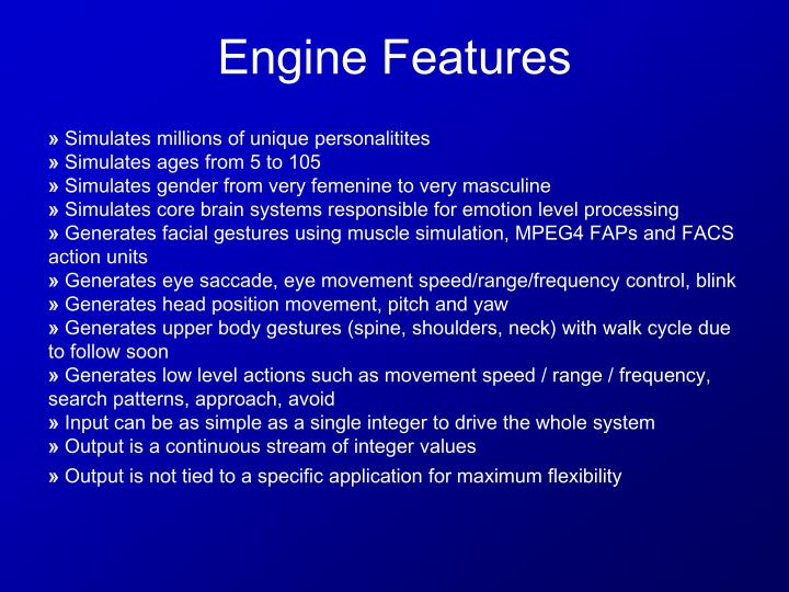 Engine Features