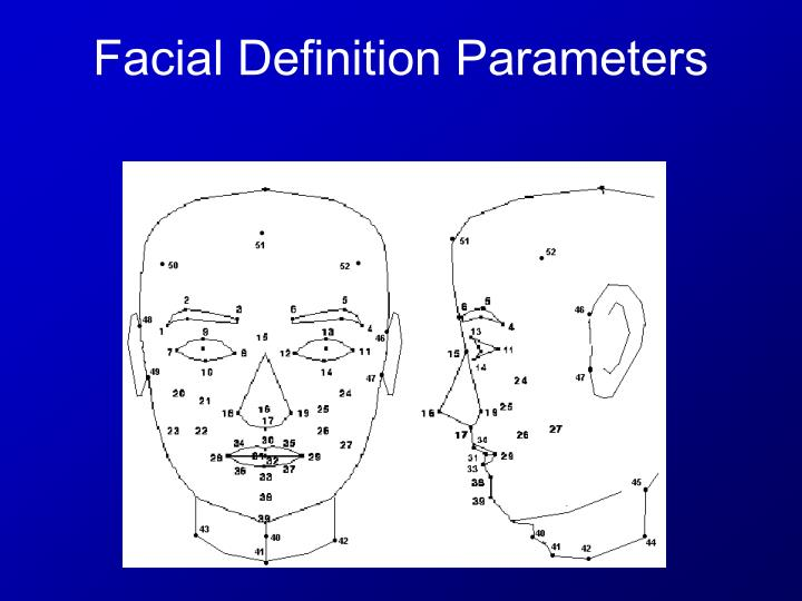 Facial Definition Parameters