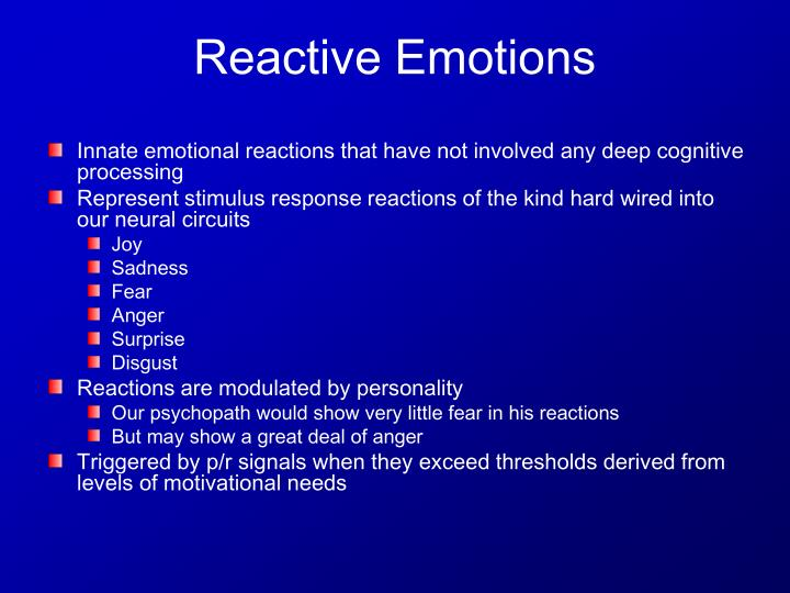 Innate emotional reactions that have not involved any deep cognitive processing