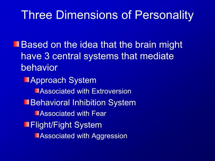 Based on the idea that the brain might have 3 central systems that mediate behavior