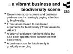 a vibrant business and biodiversity scene