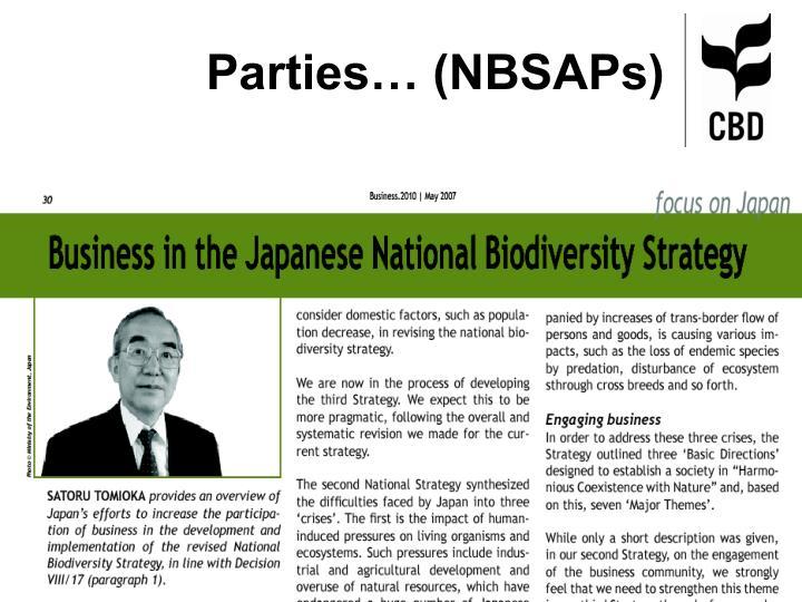 Parties… (NBSAPs)