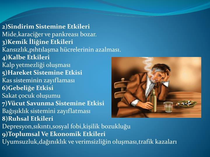 2)Sindirim Sistemine Etkileri