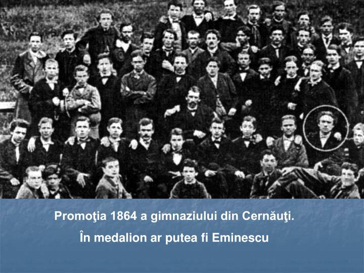 Promoţia 1864 a gimnaziului din Cernăuţi.