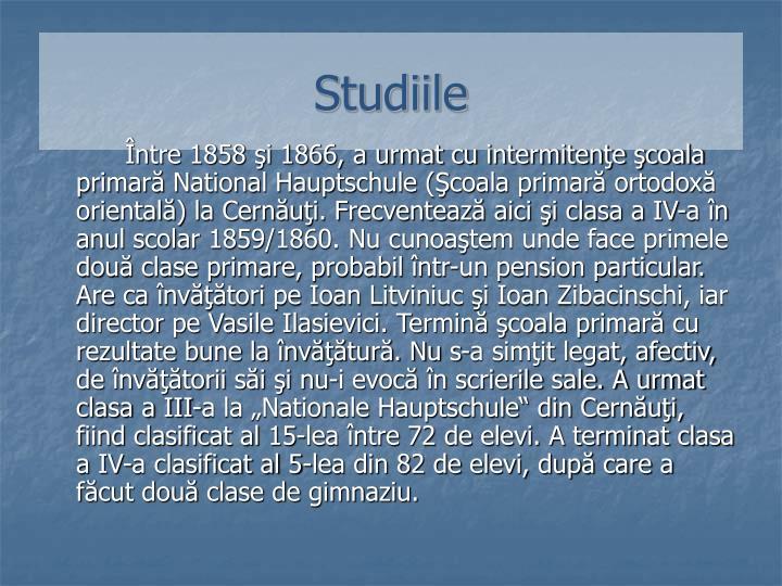 Studiile