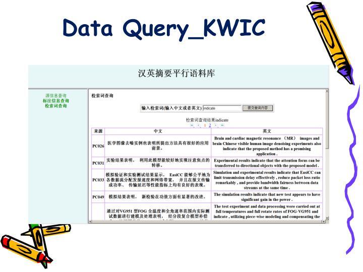 Data Query_KWIC