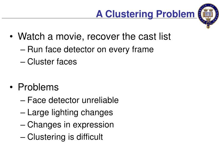 A Clustering Problem