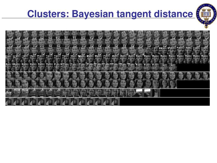 Clusters: Bayesian tangent distance