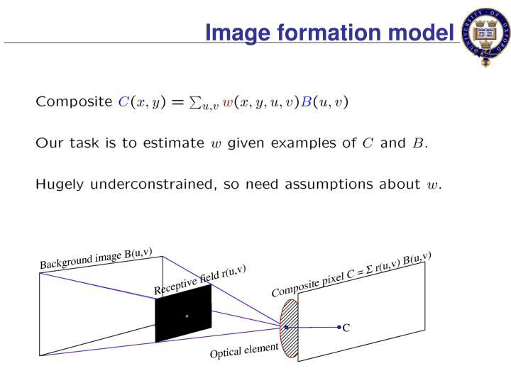Image formation model