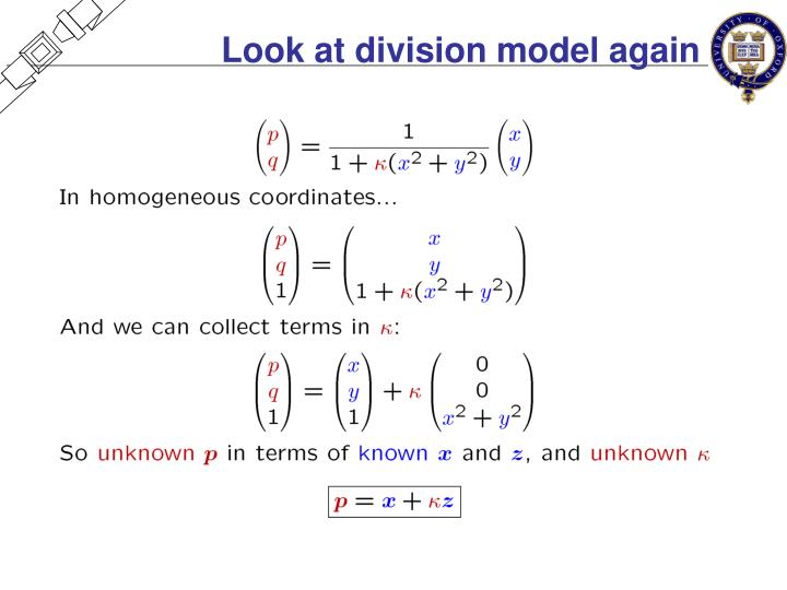 Look at division model again