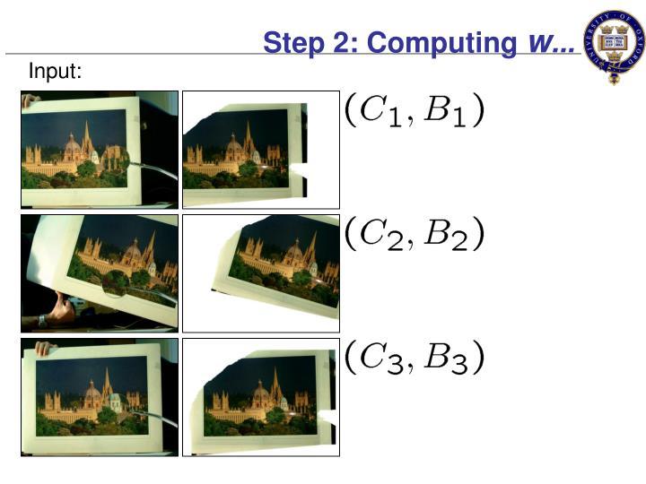 Step 2: Computing