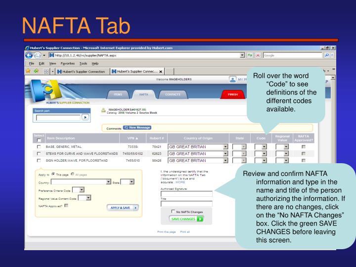 NAFTA Tab