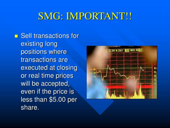 SMG: IMPORTANT!!
