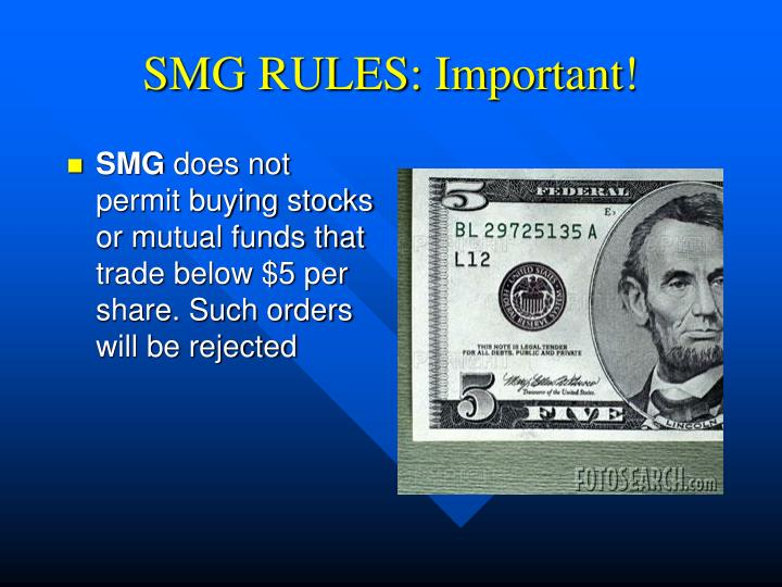 SMG RULES: Important!