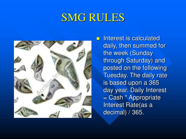 SMG RULES