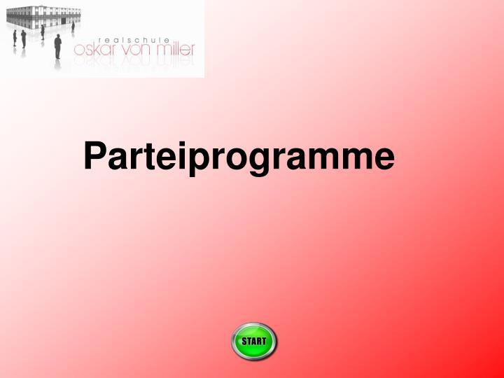 Parteiprogramme