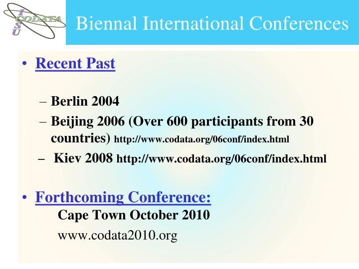 Biennal International Conferences
