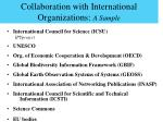 collaboration with international organizations a sample