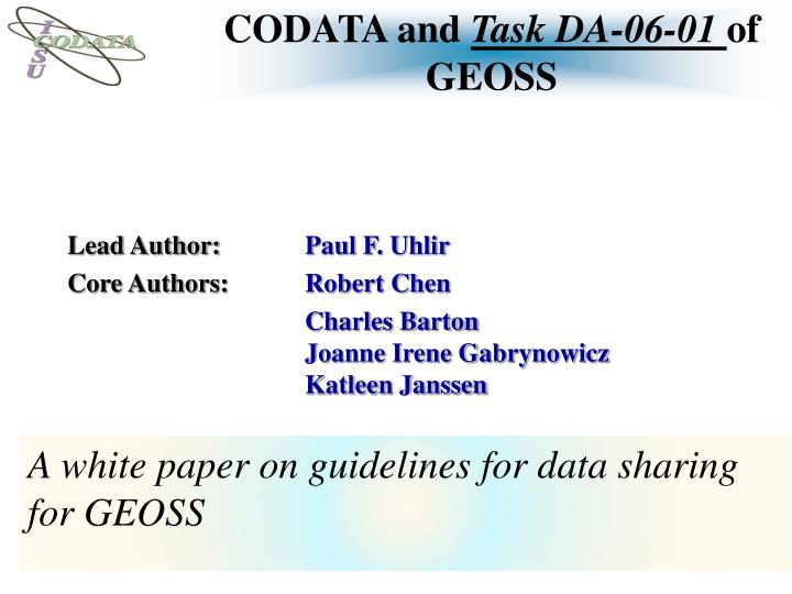 CODATA and