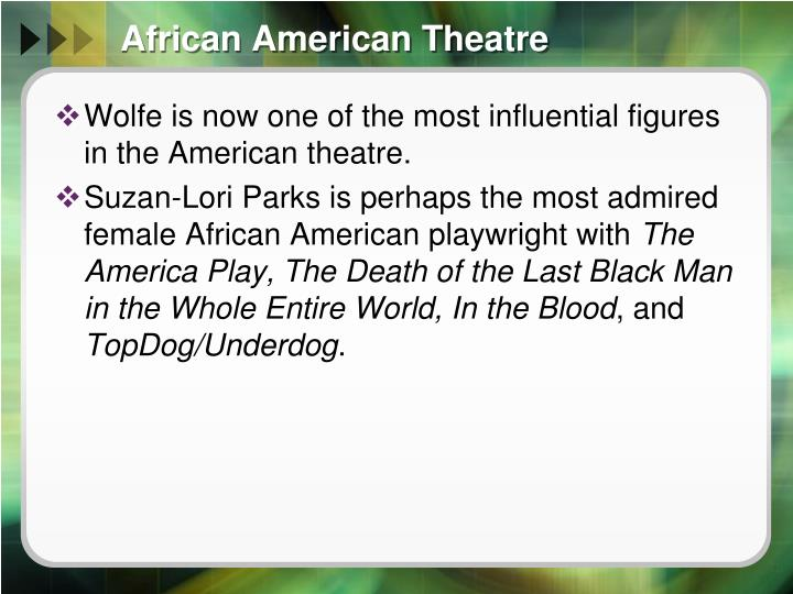 African American Theatre
