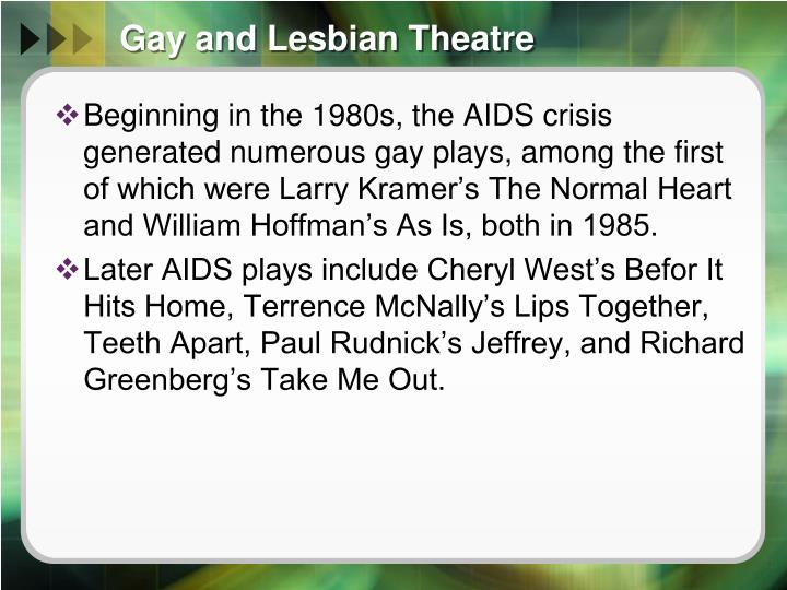 Gay and Lesbian Theatre
