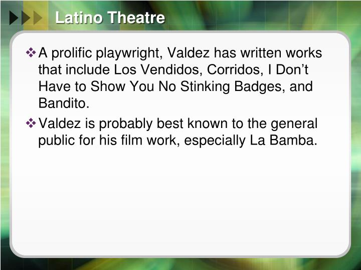 Latino Theatre