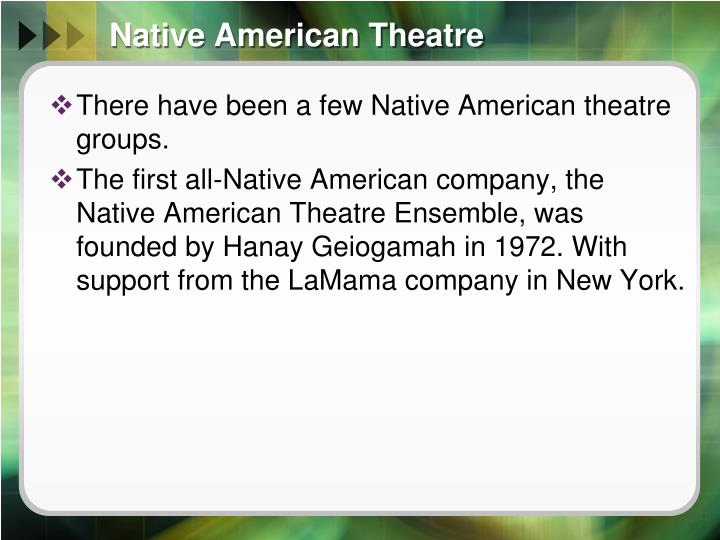 Native American Theatre