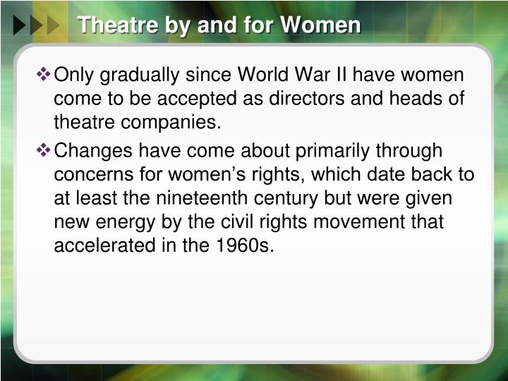 Theatre by and for Women