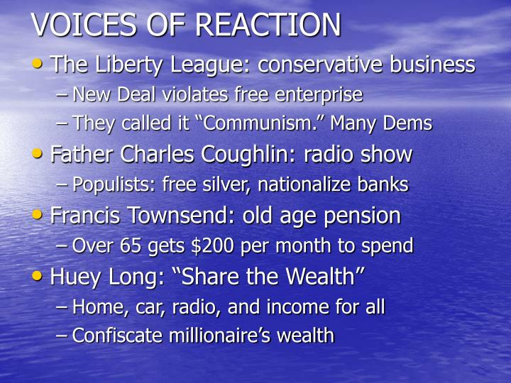 VOICES OF REACTION
