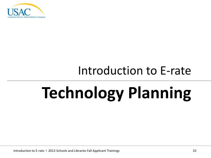 Introduction to E-rate