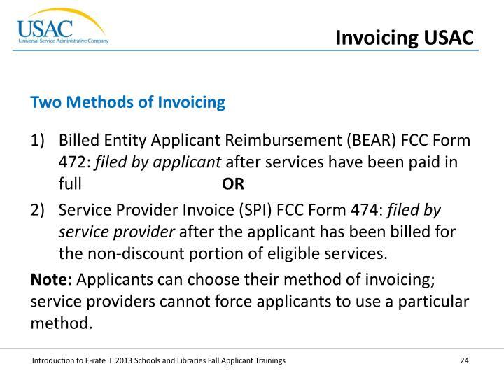 Billed Entity Applicant Reimbursement (BEAR) FCC Form 472: