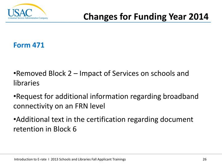 Removed Block 2 – Impact of Services on schools and libraries