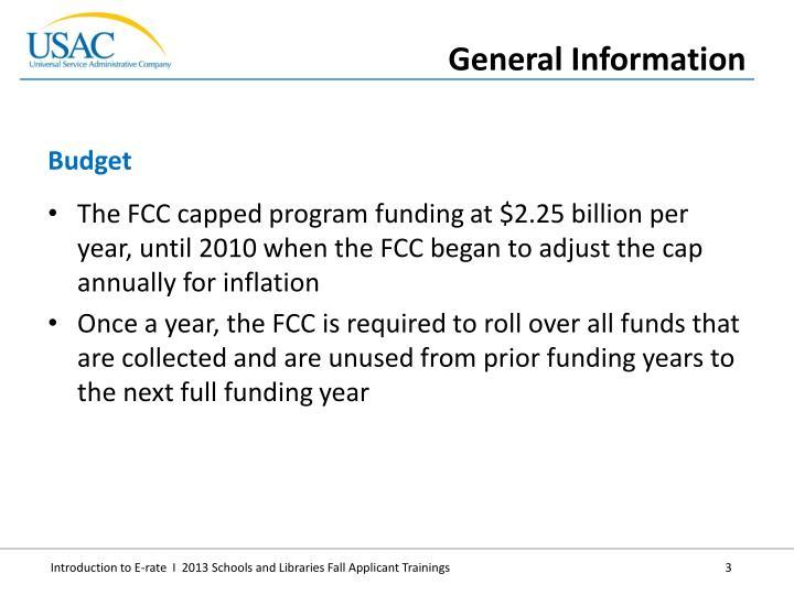 The FCC capped program funding