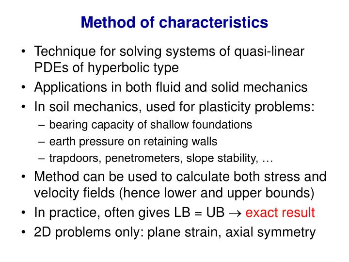 Method of characteristics