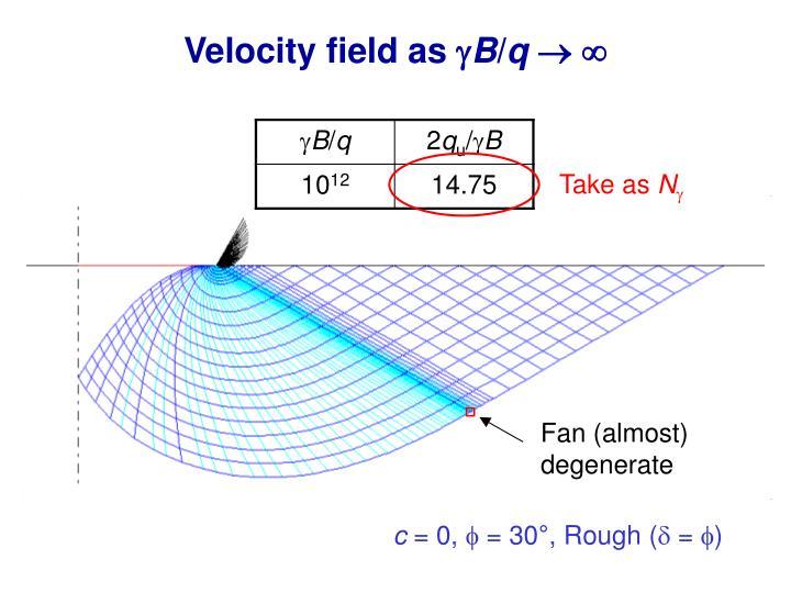 Velocity field as