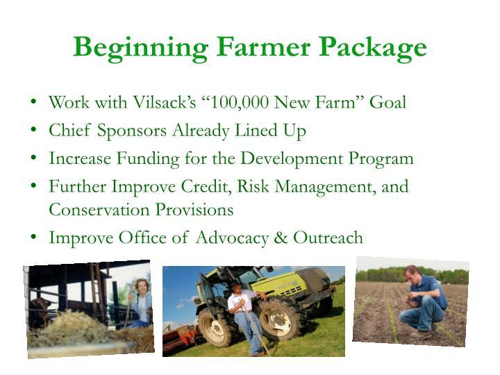 Beginning Farmer Package