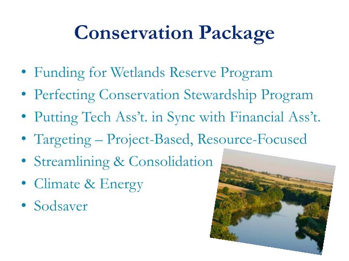 Conservation Package