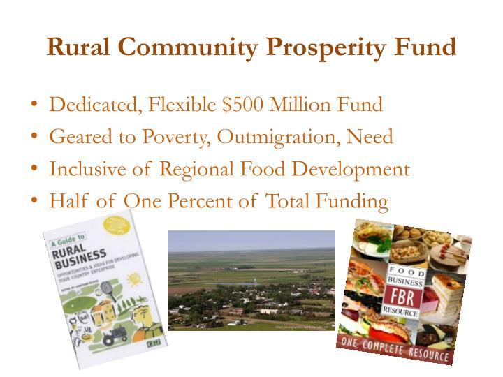 Rural Community Prosperity Fund