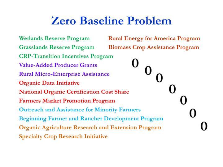 Zero Baseline Problem