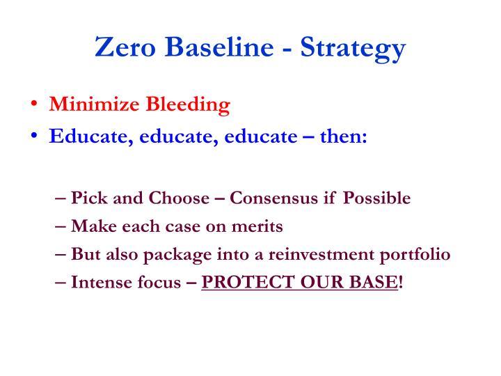 Zero Baseline - Strategy